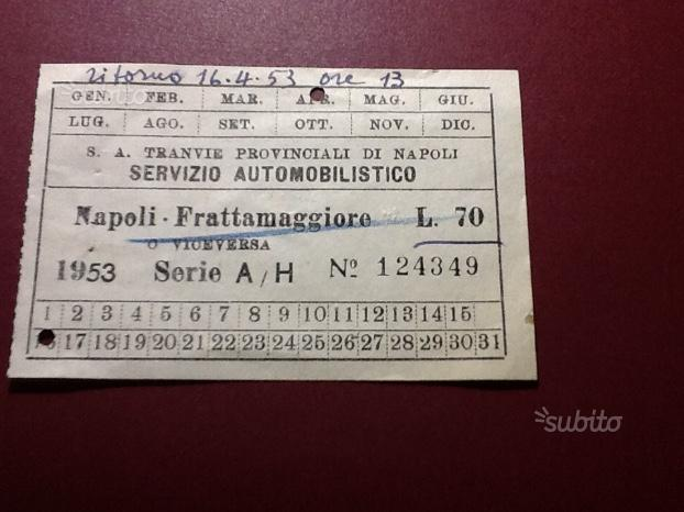 Biglietto treno 1953 epoca