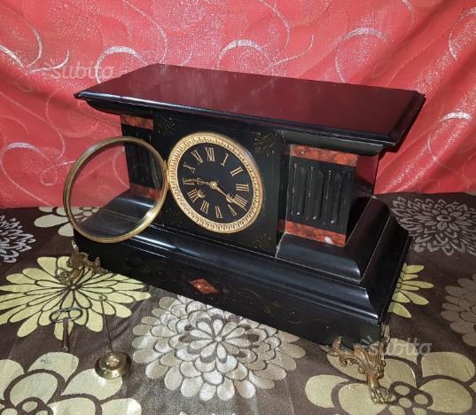 Antico orologio a pendolo in marmo Napoleone III
