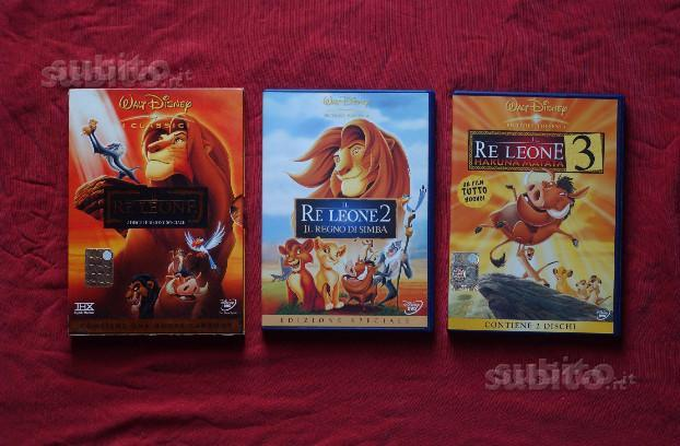 Trilogia Il re leone dvd