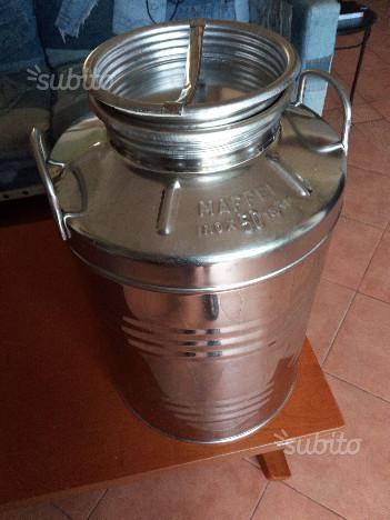 Bidone di acciaio inossidabile 50 litri, per olio