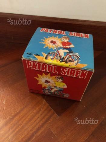Campanello sirena anni 70 per bici auto giocattolo