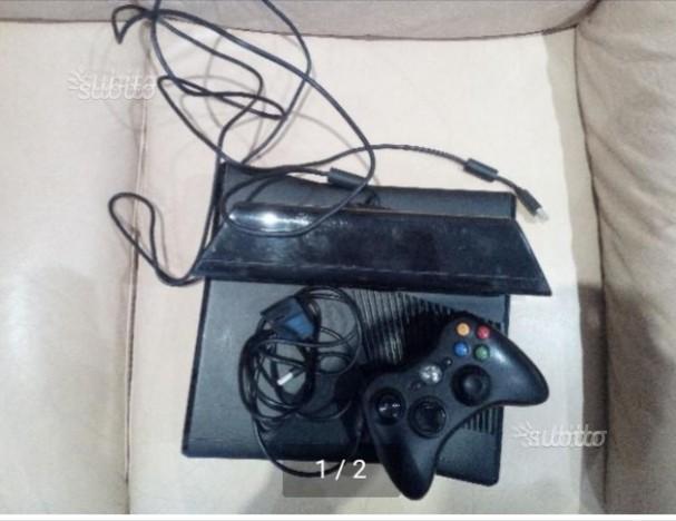 Xbox 360 +kinect+ joystick+ caricatore+ 6 giochi