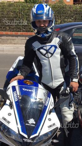 Tuta moto casco