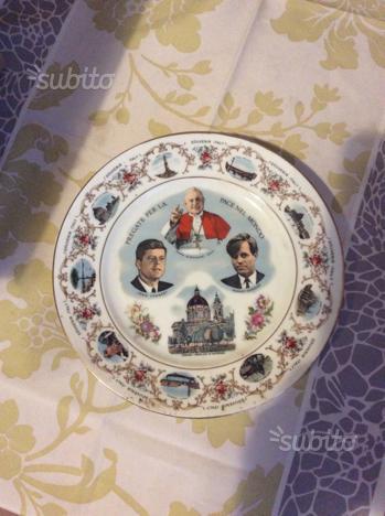 Piatto commemorativo papa giovanni xxiii - kennedy