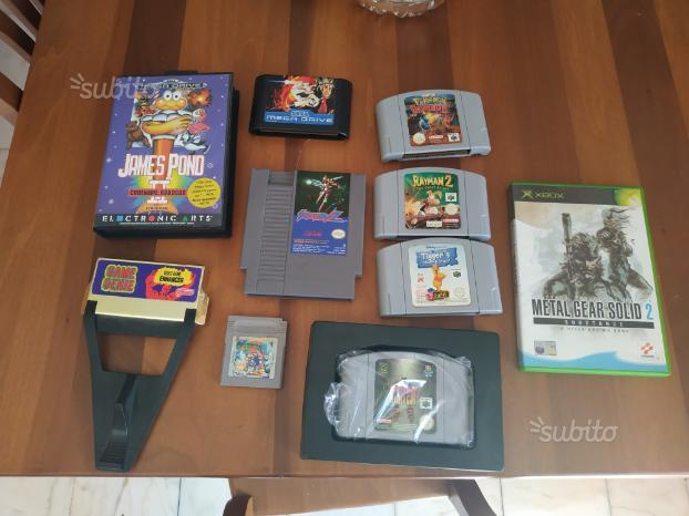 Lotto di 10 giochi misti Retro console Nintendo