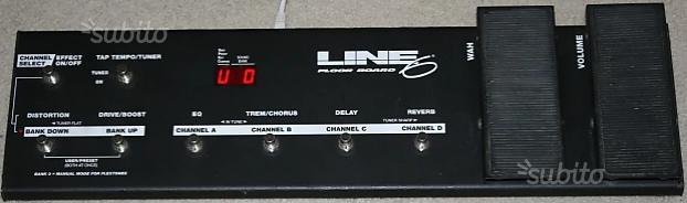 Pedaliera floorboard line6 con custodia