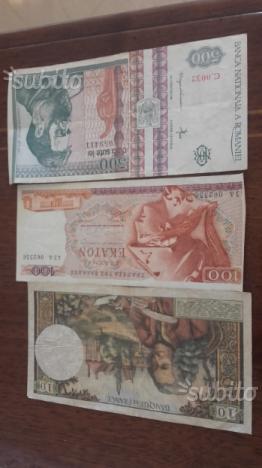 Banconote italiane e straniere