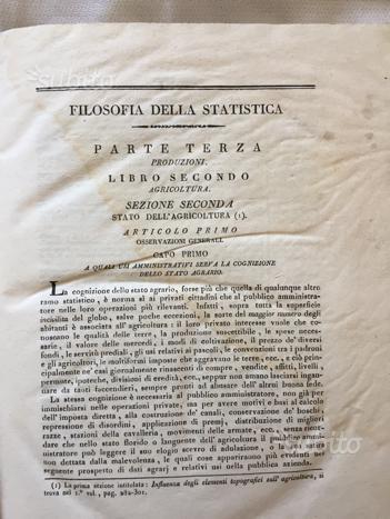 """LIBRI RARI""""Filosofia della statistica """"Gioje """""""