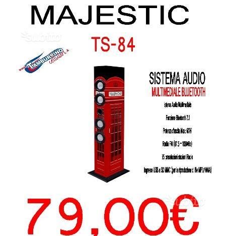 Majestic altoparlanti a torre ts-84 bt usb sd ax