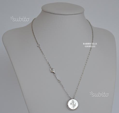 Ferrari collana uomo argento con scatola