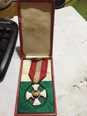 1923-Croce ordine della corona-decreto originale