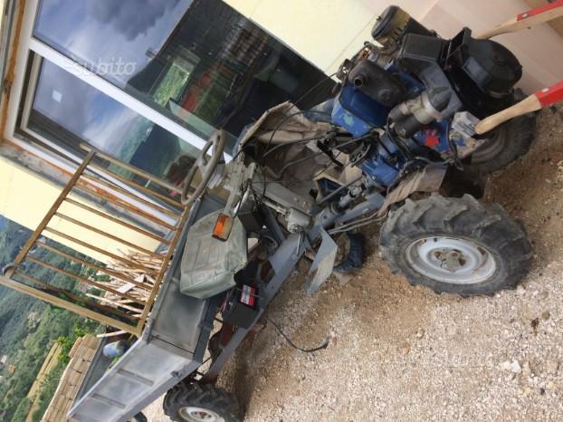 Motzappa con carello 4x4 lombardini diesel