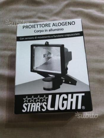 Proiettore Alogeno Con Sensori Lampada 400 Watt