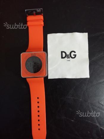 Orologio D&G Time Arancione e Cromato panno