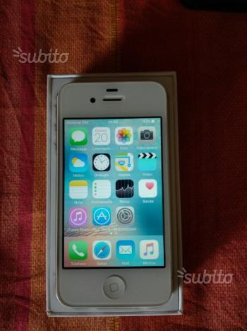 Iphone 4s 16 gb di colore bianco   accessori