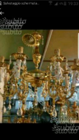 Lampadario classico 8 luci dorato