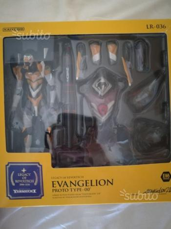 Action figure - revoltech - evangelion 01 + angelo