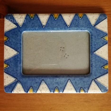Portafoto ceramica decorata