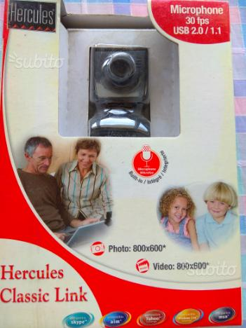 "Webcam ""Hercules"" Microfono integrato"