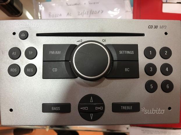 Opel Stereo Originale Corsa-Meriva Codici original