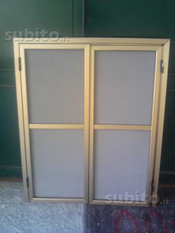 Zanzariera porta battente 2 ante x finestra nuova
