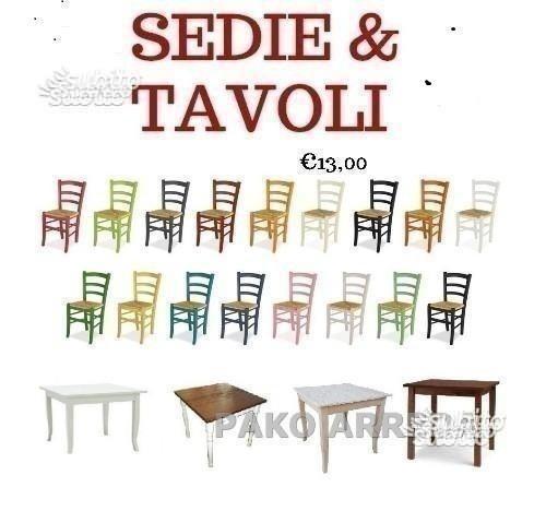 Sedia / sedie e tavolo / tavoli