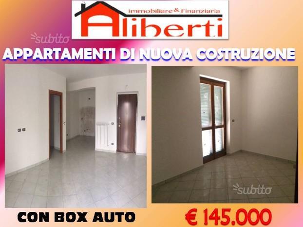 Appartamento con box auto e terrazzo recente costr