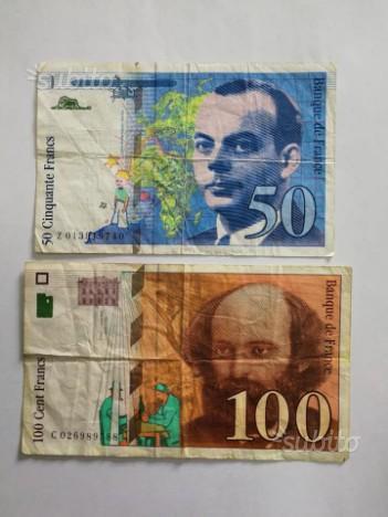 Coppia banconote francesi
