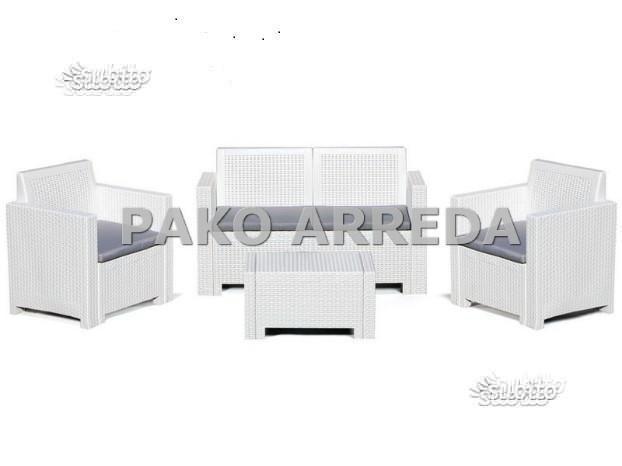 Divanetto / divanetti garden rattan bianco