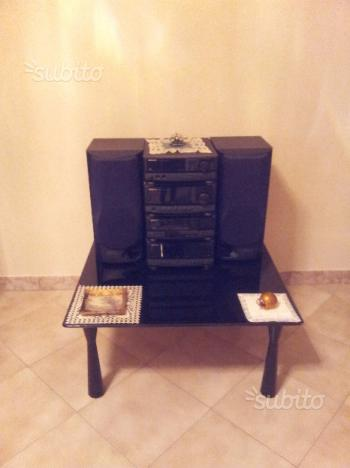 Tavolino Salotto Nero Lucido