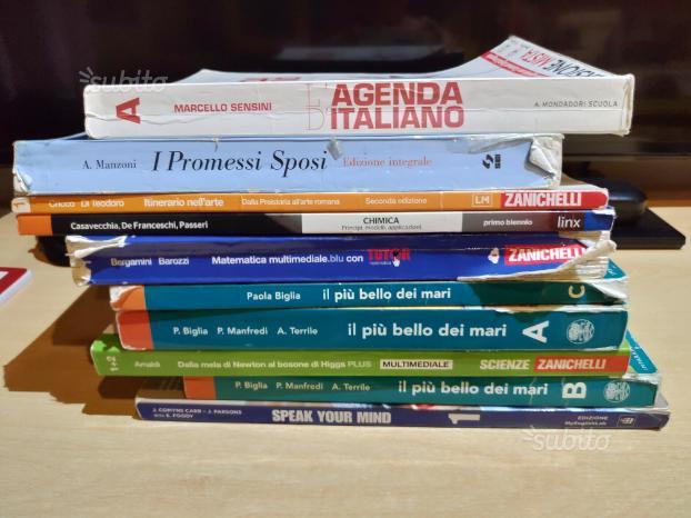 Libri per biennio superiori varie materie