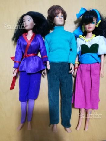Tre bambole tratte dai film Disney