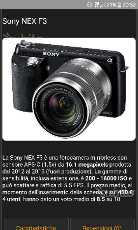 Fotocamera Mirrorless Sony nex F3
