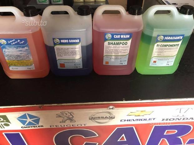 Kit autolavaggio sgrassante shampoo nero igien 5kg