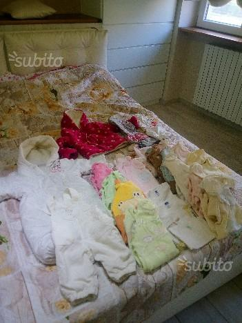 Lotto tutine, body, canotte bimba