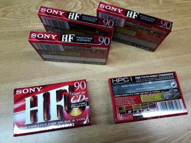 Sony Cassette audio 90 minuti sigillate