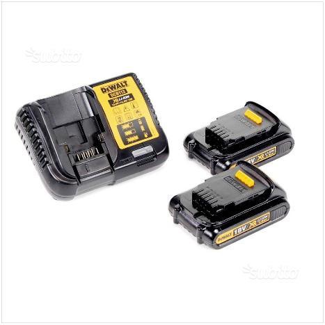 DEWALT caricabatteria + batterie + valigetta