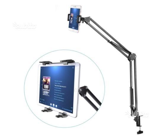 Supporto braccio scrivania per tablet smartphone