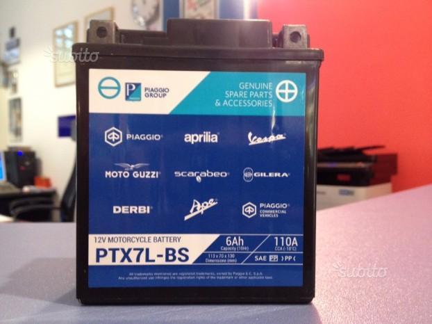 Batteria originale piaggio PTX7L-BS