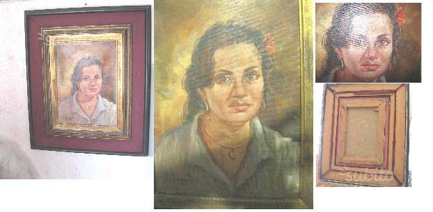 """BARBUTI Aldo (XX) """"Ritratto di donna""""olio su tela"""