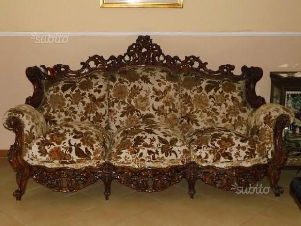 Salotto completo stile barocco
