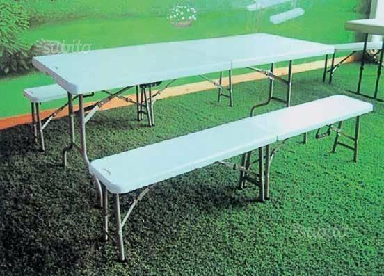 Set birreria in hdpe (tavolo più due panche)