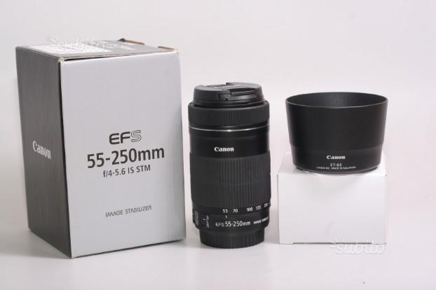 Obiettivo canon ef-s 55-250 f/4-5.6 is stm+paraluc