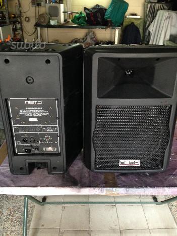Coppia di casse amplificate NEMO B2000