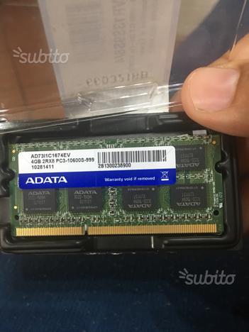 Mermoria ram 4gb per portatile