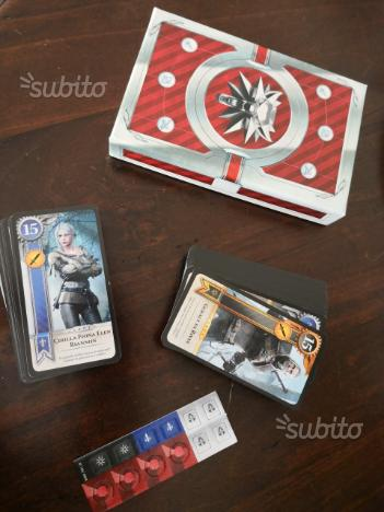 Carte Gwent videogioco The Witcher