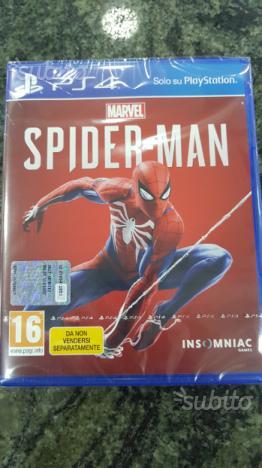 Spiderman per ps4 nuovo chiuso sigillato