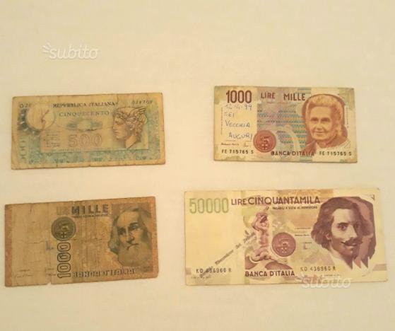 Banconote della lira