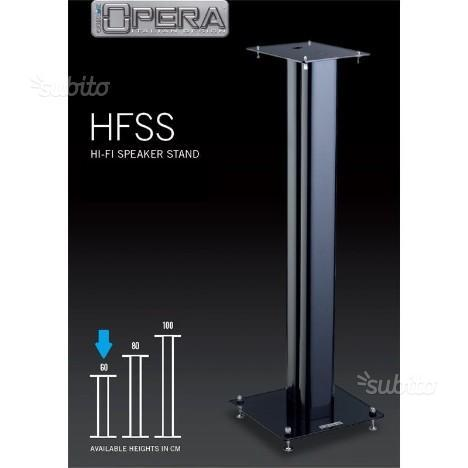 Stand per diffusori in metallo H 60cm colore nero