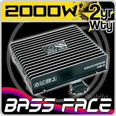 Bass face db1.2 ampli mono classe d 1250 watt rms